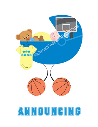 Basketball Birth Announcements