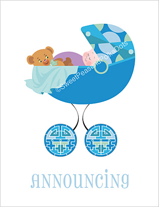 Deco Birth Announcements