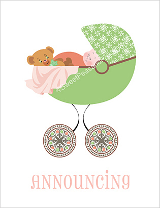 Nouveau Birth Announcements