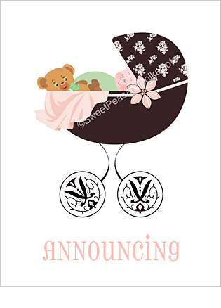 Regency Custom Birth Announcements