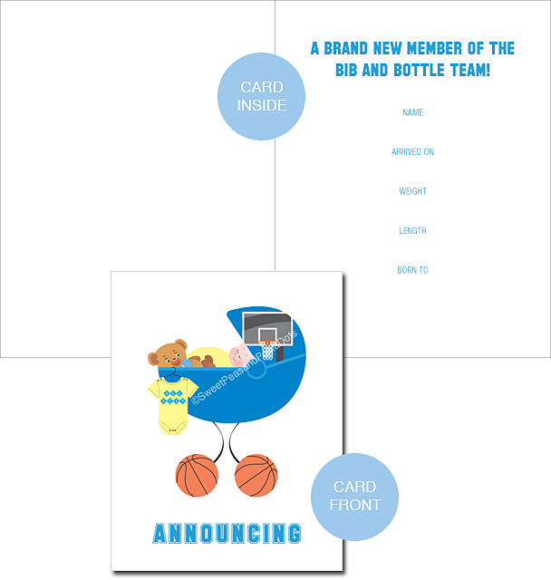 Basketball Classic Birth Announcements