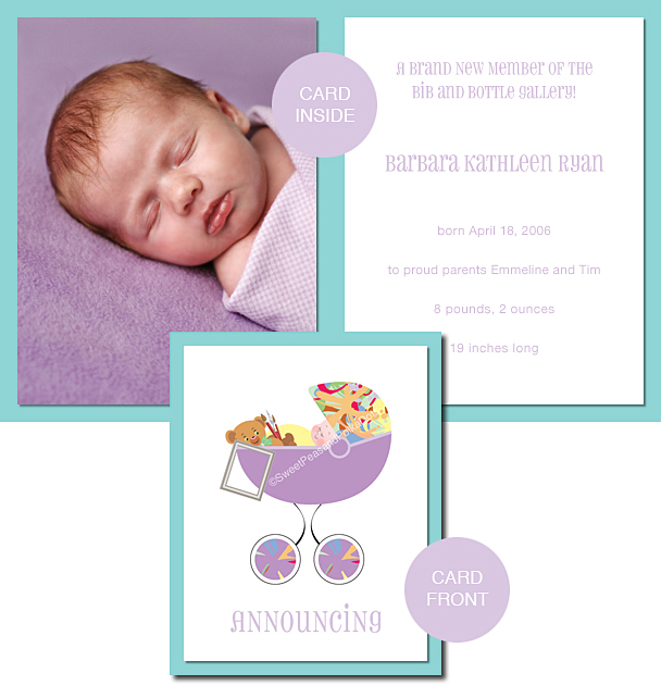 Artist Photo Birth Announcements