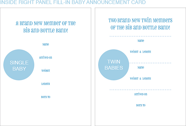 Inside Right Panel Electric Guitar Classic Birth Announcements