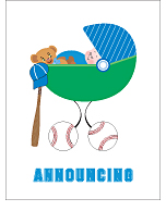 Baseball Birth Announcements