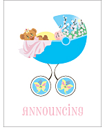 Butterfly Photo Birth Announcements