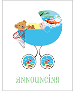 Fishing Birth Announcements