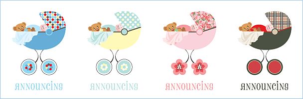Sweet Peas Baby Announcements