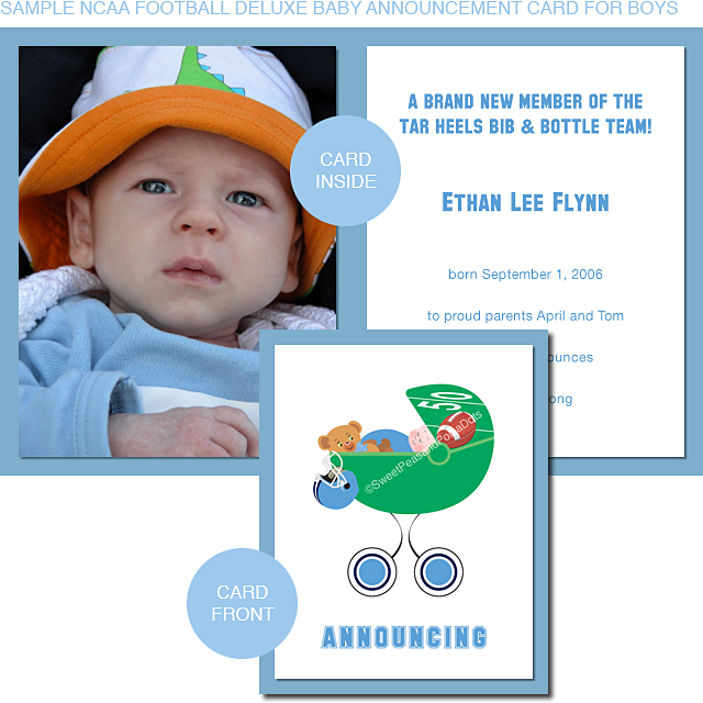 University of Michigan Baby Announcement Cards – Sample Baby Announcement