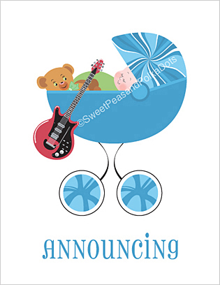 Electric Guitar Birth Announcements