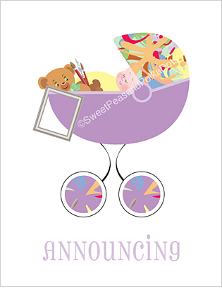 Artist Classic Birth Announcements