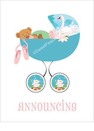 Ballet Classic Birth Announcements