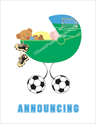 Soccer Classic Birth Announcements