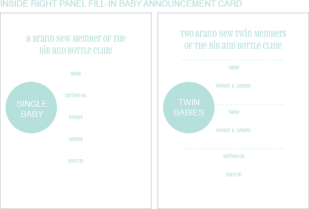 Inside Right Panel Pastel Polka Dot Classic Birth Announcements