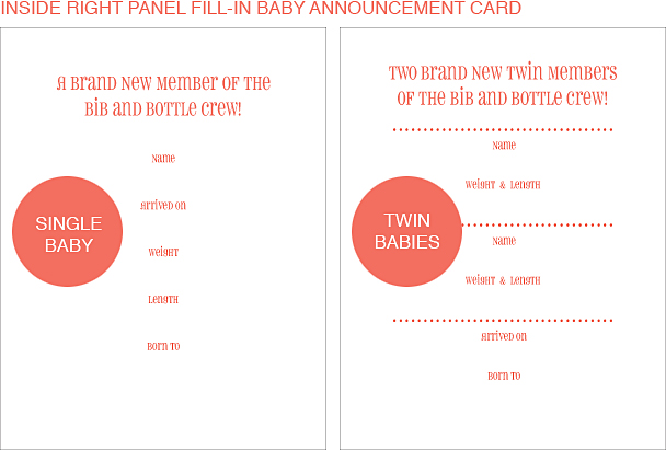 Inside Right Panel Sailing Classic Birth Announcements