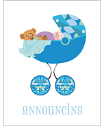 Deco Photo Birth Announcements