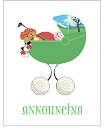 Golf Photo Birth Announcements