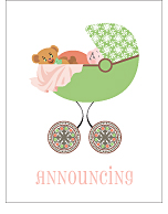 Art Nouveau Birth Announcements