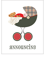 Pemberley Park Plaid Classic Birth Announcements
