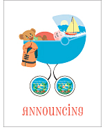 Sailing Classic Birth Announcements