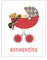 Violin Birth Announcements