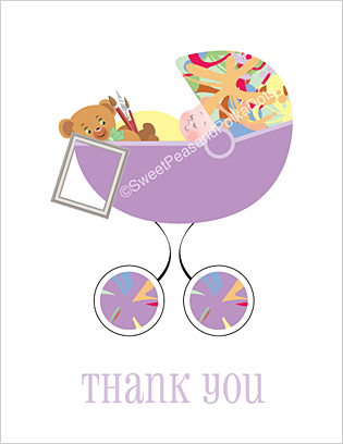 Artist Baby Thank You Cards