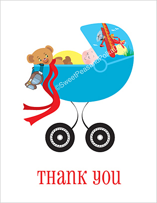 Airplane Baby Thank You Cards