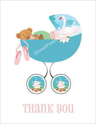 Ballet Baby Thank You Cards