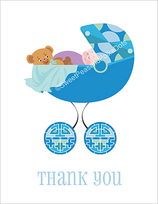 Deco Baby Thank You Cards