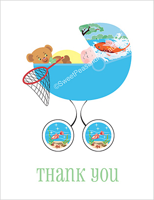 Fishing Baby Thank You Cards