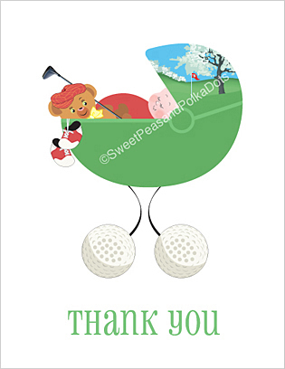 Golf Baby Thank You Cards