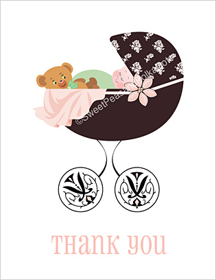 Regency Baby Thank You Cards