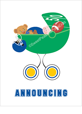 Blue and Gold Football Classic Birth Announcements