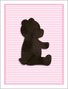 Pink LUX Bear Birth Announcements