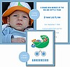 Light Blue Football Photo Birth Announcements